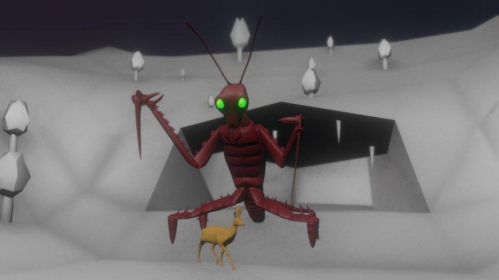 Hungry Mantis 3D Model