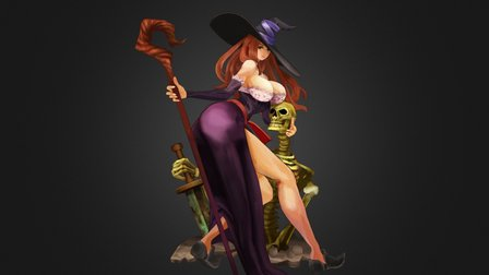 Dragon's Crown Sorceress 3D Model