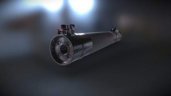 AS Val integral barrel-suppressor (2) 3D Model