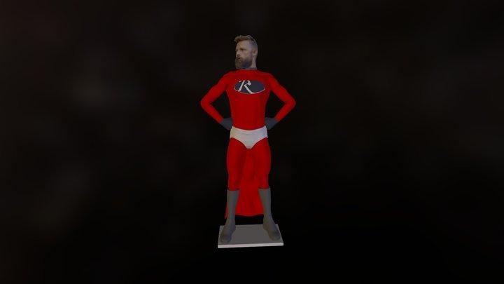 Richie Superhero Ready For Action 3D Model