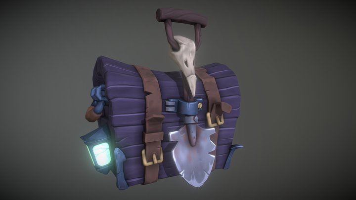 Toon chest 3D Model