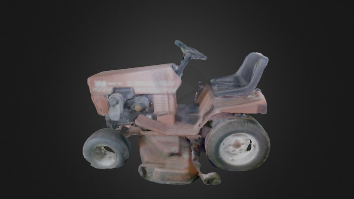 Gravely Lawn Tractor 3D Model