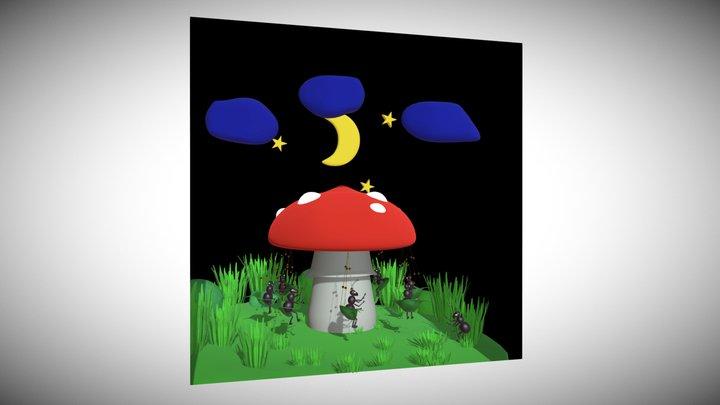 Mushroom merry-go-round 3D Model