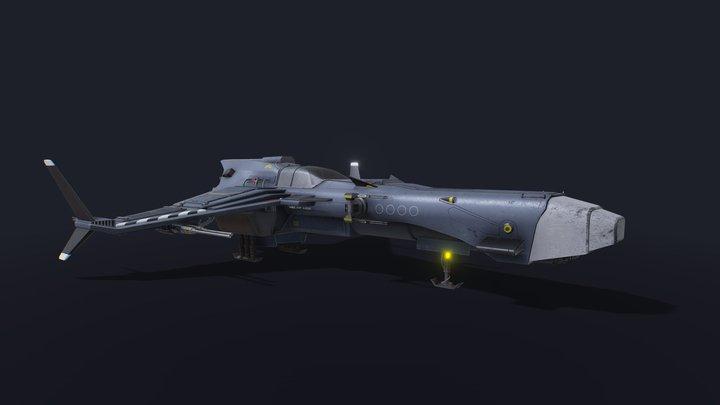 Spaceship Vigilant A-620 3D Model