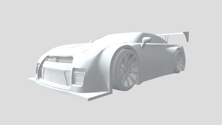 Modified Nissan GTR 3D Model