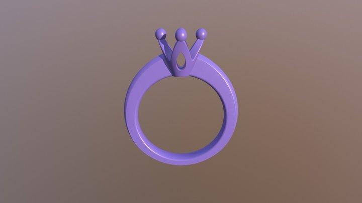ENGAGEMENT RING STL FILE  3D- CA1 3D print model 3D Model
