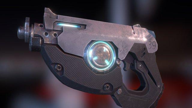 Overwatch: Tracer's Gun 3D Model