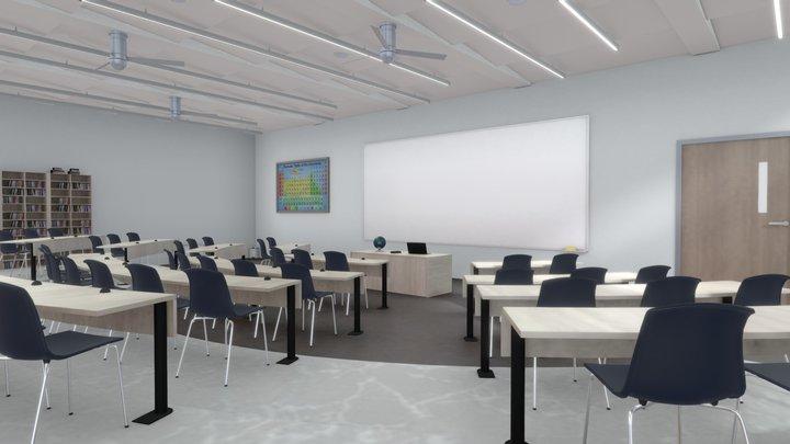 VR ClassRoom April 2021 3D Model