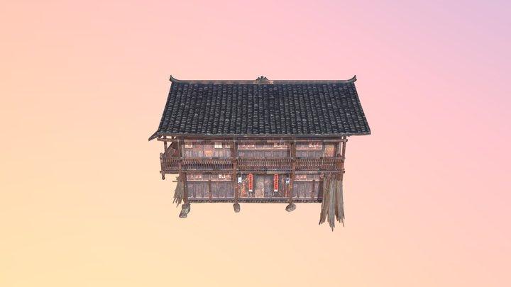 Native Old wood build 3D Model