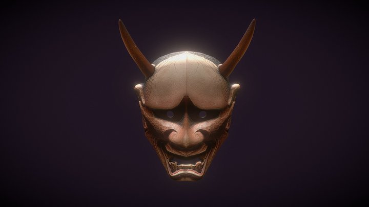 Hannya Mask Japan Demon Japanese 3D Model