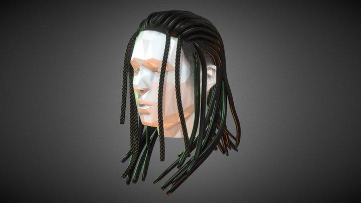 Braided Dreads - Long 3D Model