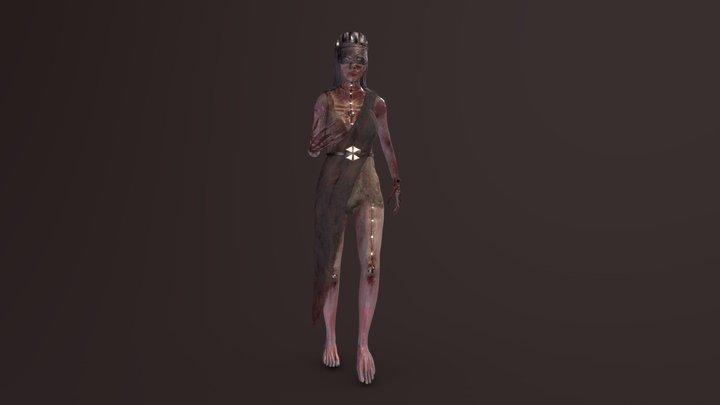 Zombula, The Zombie Queen 3D Model