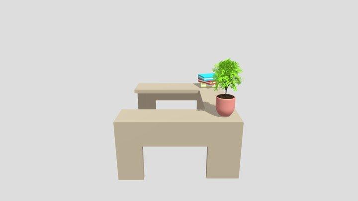 U shaped table 3D Model