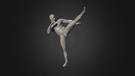 Super Average Man PoseTest 3D Model