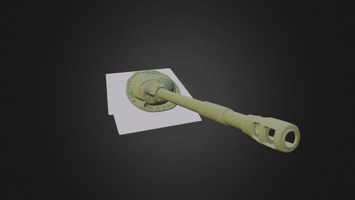 Tank main gun and gun mantlet 3D Model