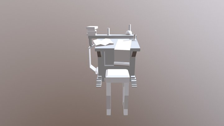 Desk - Blockout 3D Model
