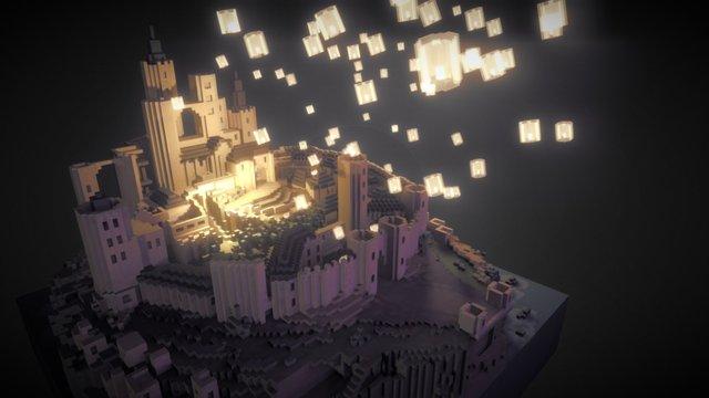 Tangled castle 3D Model
