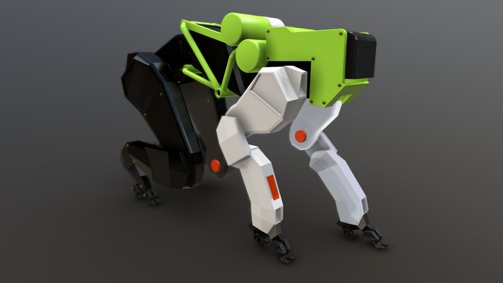 Cheetah Bot 3D Model