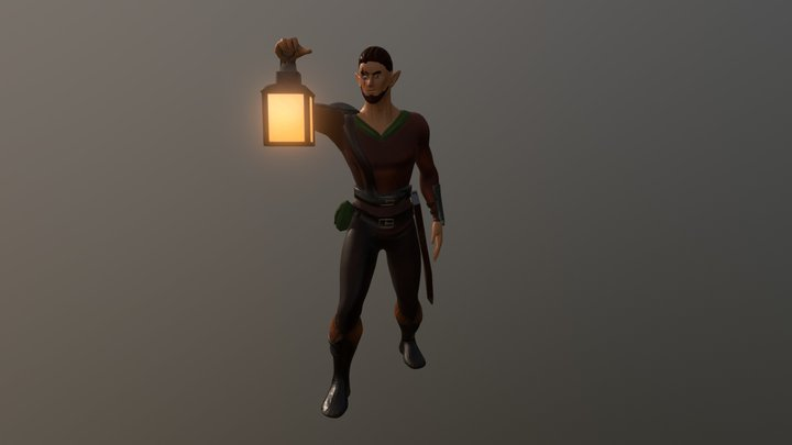 Bálder, elfo guerrero. 3D Model