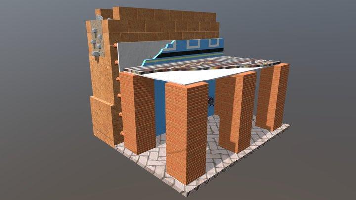 Sistema de Hypocaustum 3D Model