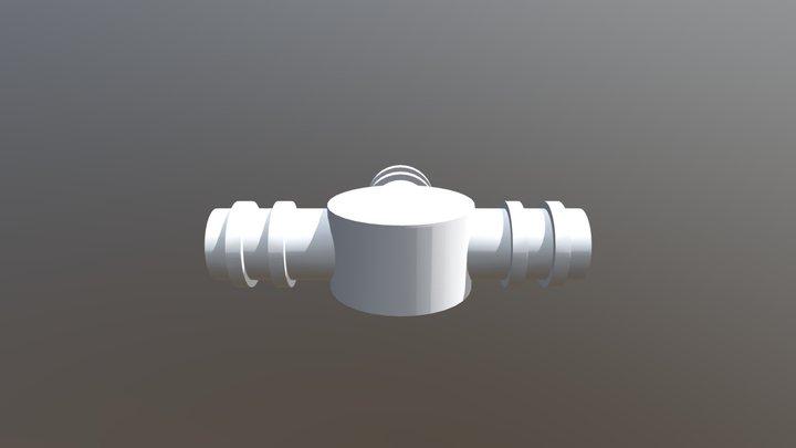 T Water Splitter 3D Model