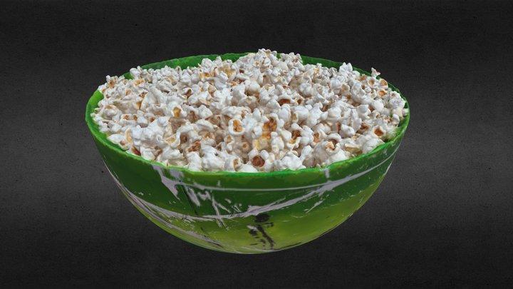 Popcorn Bowl 3D Model