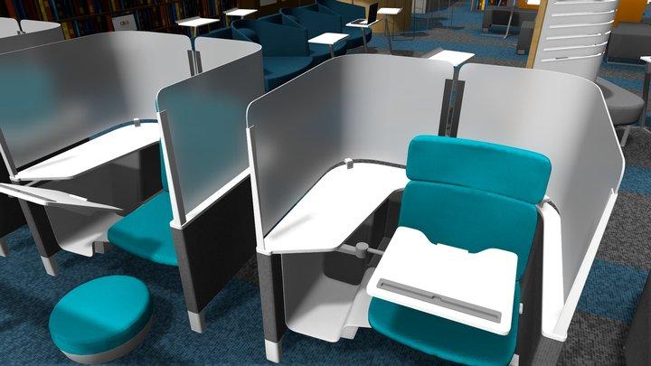 CRAI Nivel 3 / Sede Claustro 3D Model