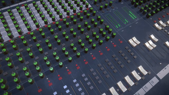 Live Audio Soundboard 3D Model