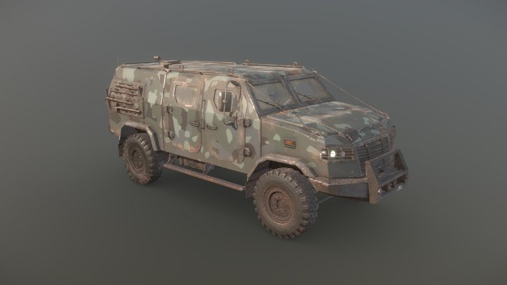 Armored vehicle 3D Model