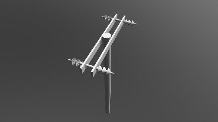 Zm Power Pole06 4 Transformer 3D Model