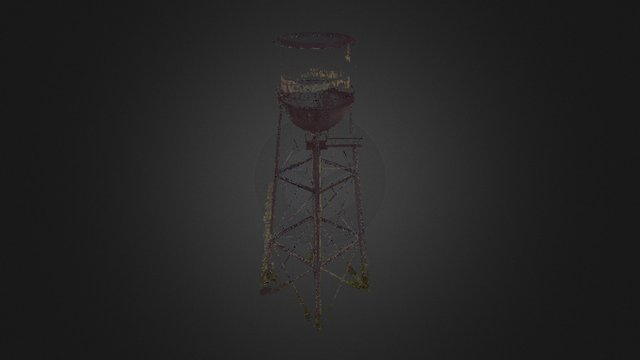 Abandoned Water Tower; 20mm 3D Model