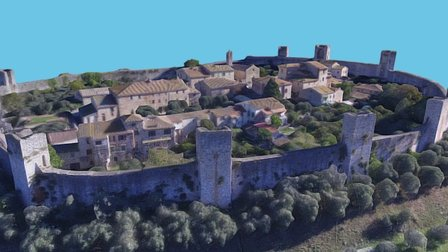Monteriggioni: HIGH quality 3D Model
