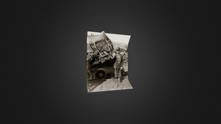 Example of 2D-3D Photograph (Boy with Mule) 3D Model