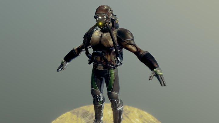 Zombie Marine 3D Model