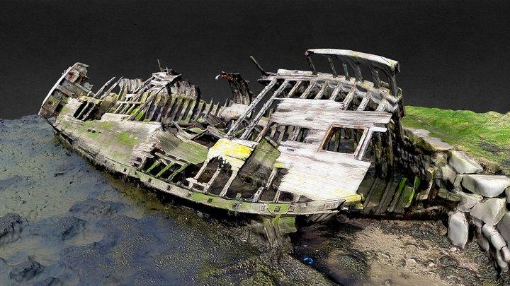 Shipwreck, Hooe Lake, Plymouth 3D Model