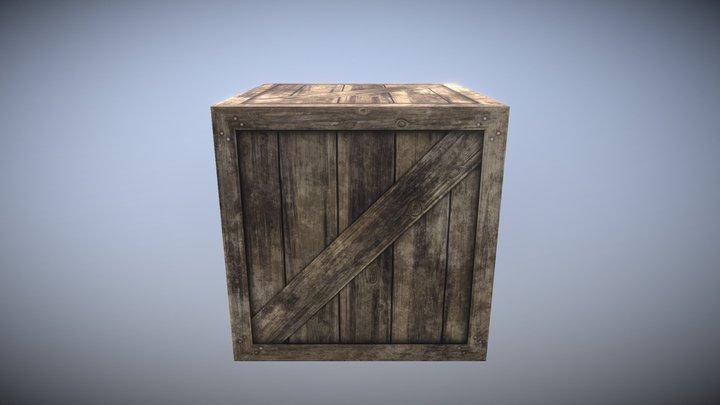 Wooden Crate Game Asset 3D Model
