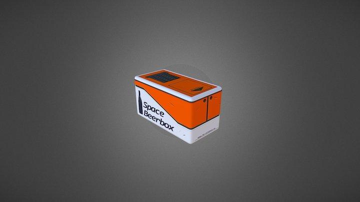 Space Beer Box 3D Model