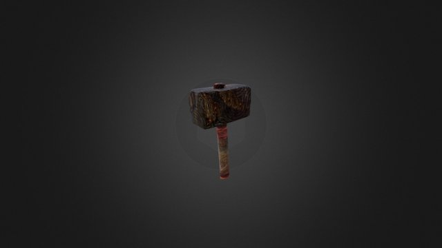 Weathered Hammer 3D Model