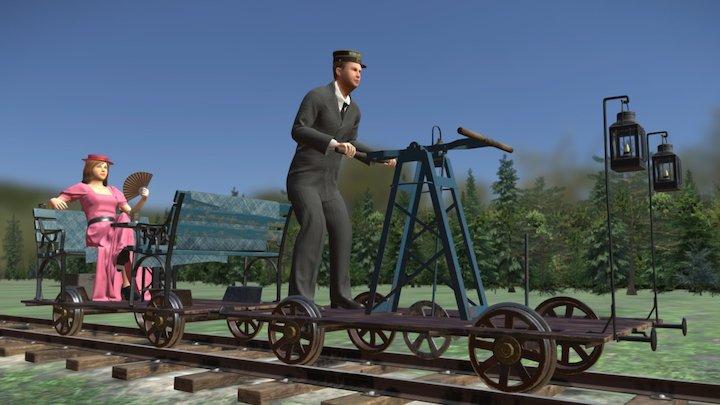 Handcar ride 3D Model