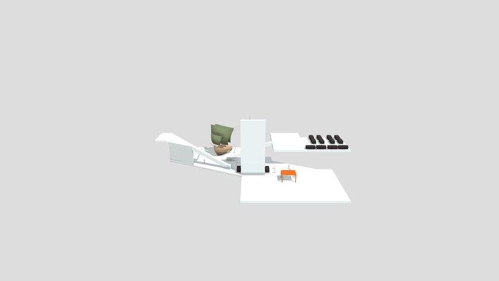 Final Floor planes 1 & Floor 2 3D Model