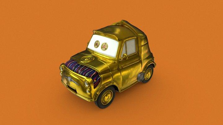 Gold car 3D Model