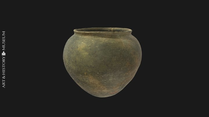 Egg-shaped pot 3D Model