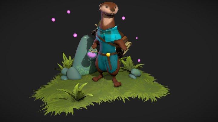 A Wizard Otter - Oden Gate 3D Model