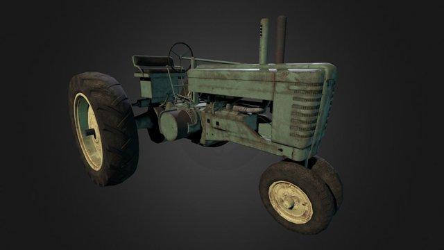 John Deere Tractor 3D Model