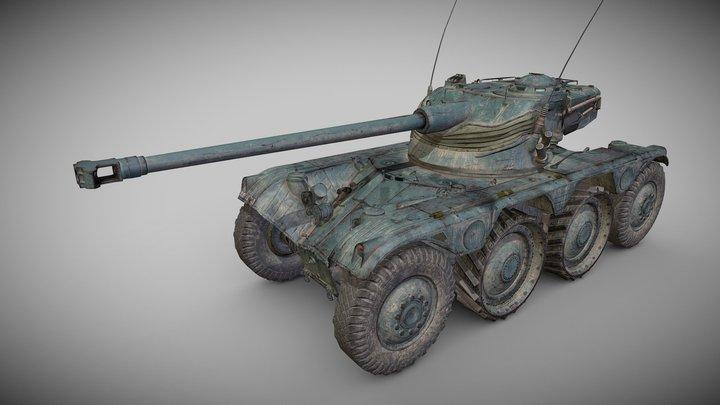Panhard EBR 75 Mle1954 3D Model