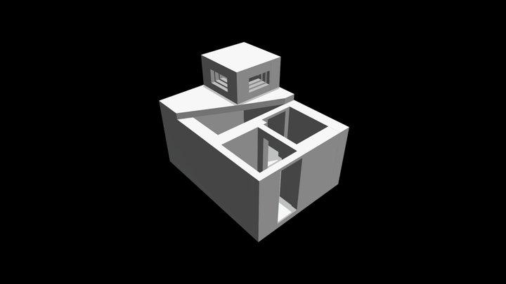 Beobachtungsstelle der ZV, Beelitz 3D Model