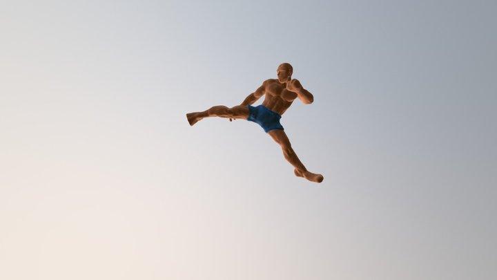 High kick 3D Model