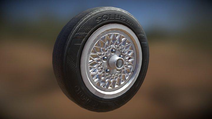 Jaguar Xjs Tire, Jag xjs wheel rim 3D Model
