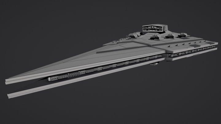 Venerator-Class Cruiser 3D Model