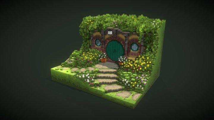 Hobbit-Hole 3D Model
